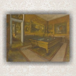 "Картина ""Billiard room at Menil-Hubert"" - репродукция. Художник Дега Эдгар"